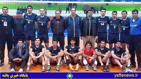 تیم والیبال کهمان نوین الشتر لرستان قهرمان زیرگروه والیبال ایران