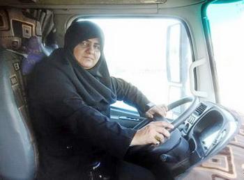 فرشته بيرانوند راننده زن لرستاني