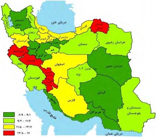 نرخ بیکاری استان لرستان کشور