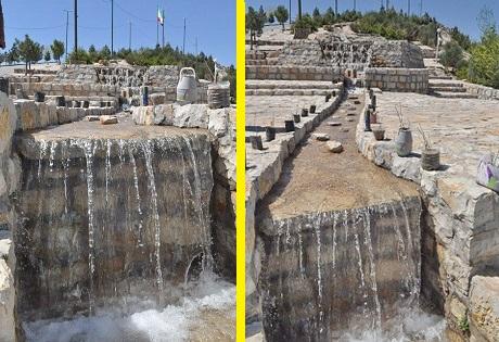 آبشار مجتمع بام لرستان راهاندازی شد + عکس