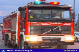 همدَردی آتشنشانان خرمآباد با حادثه دیدگان پلاسکو+ تصاویر