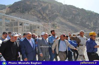 گزارش تصویری: افتتاح نیروگاه سد رودبار با حضور وزیر نیرو+ حواشی