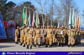 گزارش تصویری: رژه نیرو های مسلح استان به مناسبت دهه فجر و سالروز نیروی هوایی