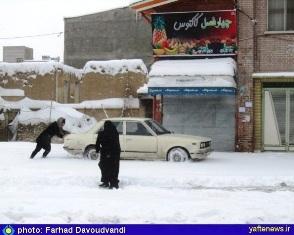 گزارش تصویری: بارش برف، این نعمت الهی در بروجرد- یافته