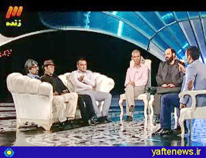 بهروز وثوقي ليدر تماشاگران فوتبال لرستان در برنامه ماه عسل - عكس