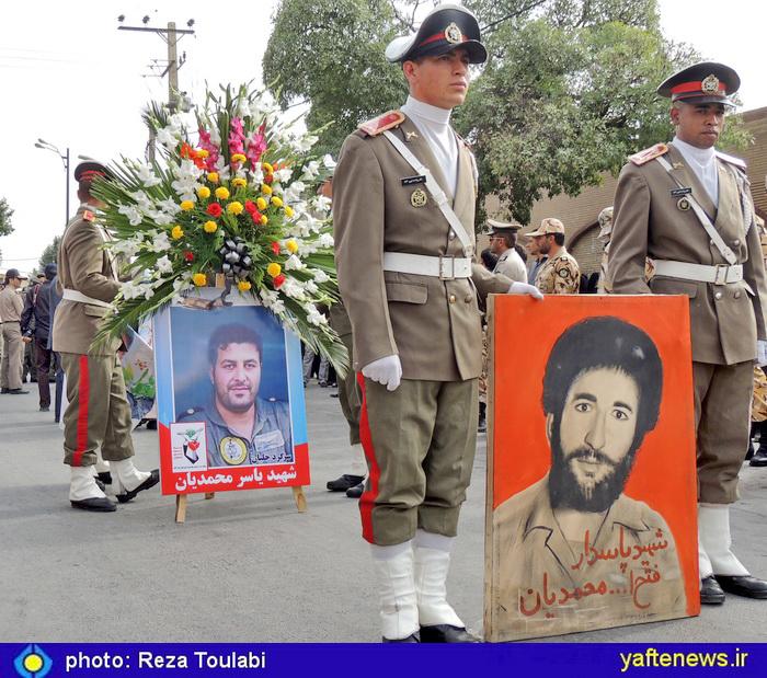 گزارش تصویری: پیکر خلبان شهید محمدیان در م آباد تشییع شد